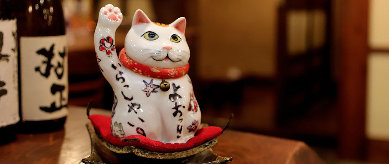 【創作鉄板ダイニング えん家】鳥取駅から徒歩10分の居酒屋 えんまねき猫